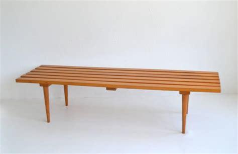 wood slat bench mid century wood slat bench for sale at 1stdibs