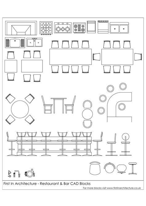 cad blocks restaurant  bar architecture