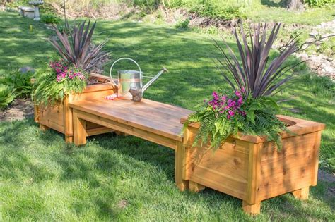 outdoor bench with planter boxes 25 best ideas about planter bench on pinterest garden