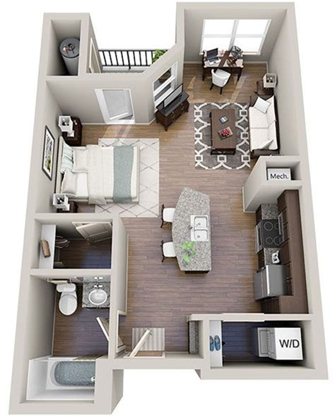studio apartment 3d floor plans 25 best ideas about apartment floor plans on pinterest