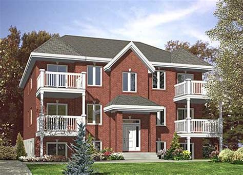 plex multi family home plan pd st floor master suite cad  canadian