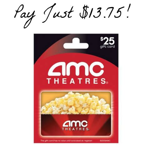 Amc Gift Cards At Cvs - 20 amc theaters gift card just 11 60