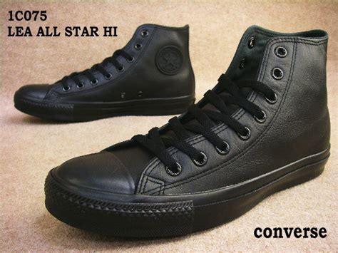 Sepatu Converse All Hi 1w883 Black Original kamedayahonten rakuten global market converse lea all hi 1c075 black monochrome