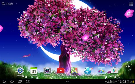 Amio Id Gamis Pink Blossom cherry blossom live wallpaper android apps on play