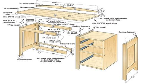 Wood Kitchen Work Table Free Woodworking Plans Desk Wood Desk Plans Free