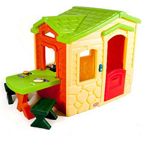 little tikes picnic on the patio playhouse natural