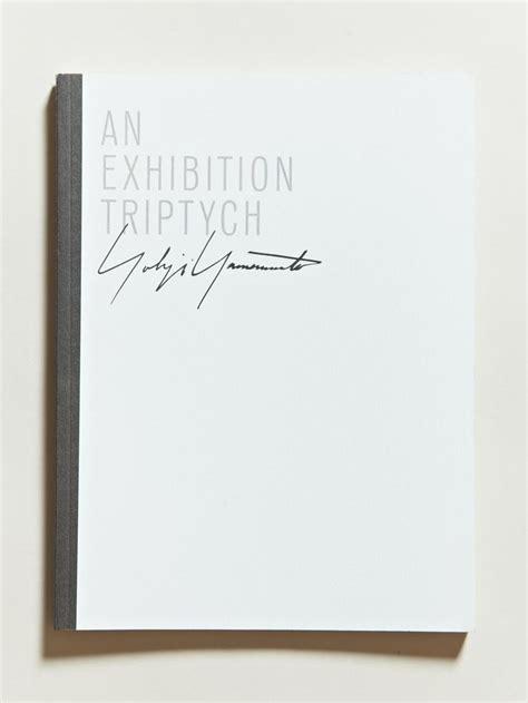 libro yohji yamamoto an exhibition of triptych yohji yamamoto brochures editorials publications