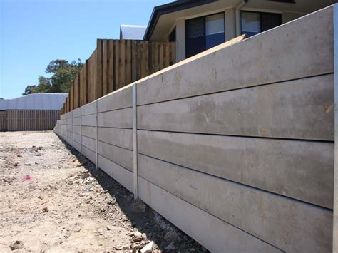 Concrete Sleeper Retaining Wall Design by Australian Retaining Walls Concrete Sleepers With