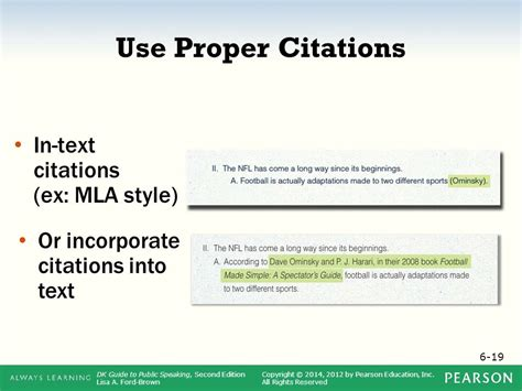 Photo Credit Mla Format Chapter 6 Outlining Your Speech Ppt