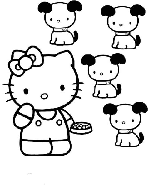 puppy kitty coloring pages free coloring pages of kitty and puppys