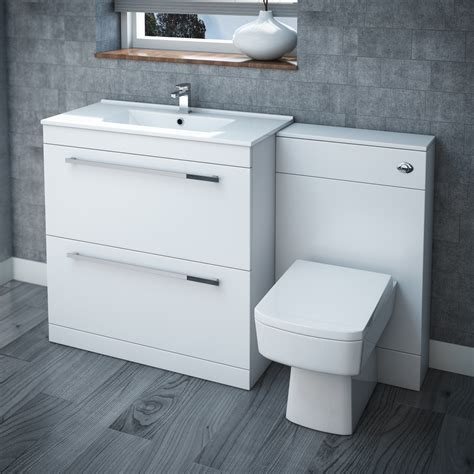 Nova High Gloss White Floor Standing Basin Unit W800 X Bathroom Furniture Sink
