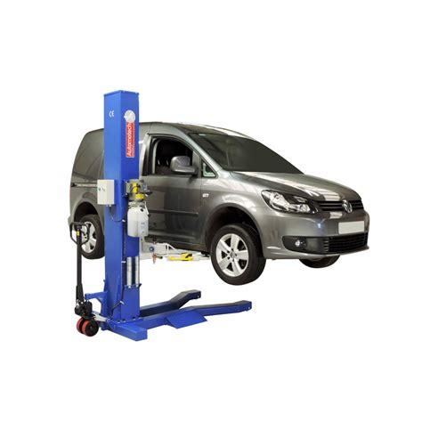 Single Car Garage by As 7521 Mobile Single Post Vehicle Lift Automotech