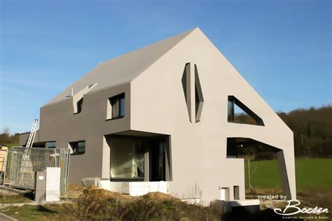 fassadengestaltung einfamilienhaus bilder boesen kreatives sanieren bauen luxemburg