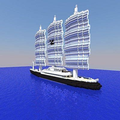 maltese falcon sailing yacht  scale minecraft project