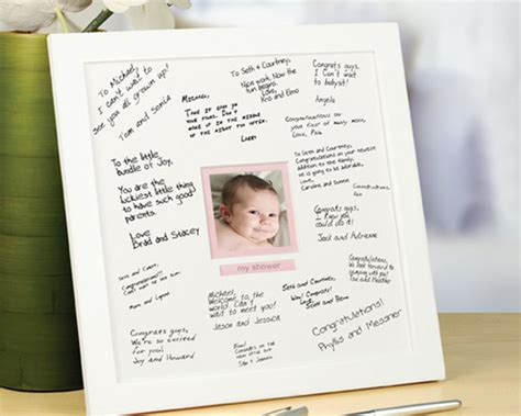 Baby Shower Signing Frame by Baby Shower Autograph Frame Amazing Goods