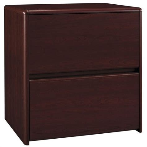 Northfield 2 Drawer Lateral Wood File Storage Cabinet In Cherry Wood Lateral File Cabinet