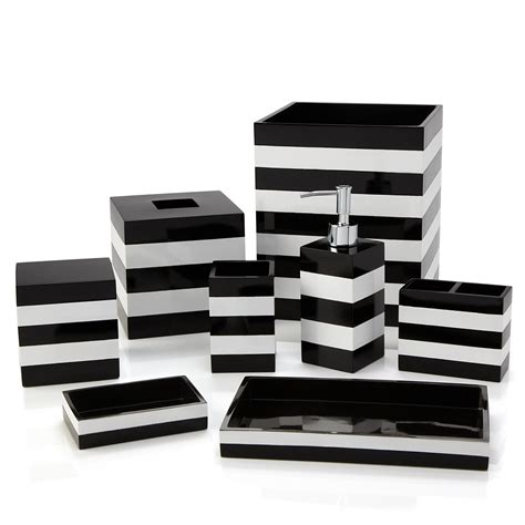 Black White And Bathroom Accessories by Striped Bathroom Accessories Bathroom Design Ideas