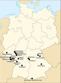 us army bases europe map list of united states army installations in germany