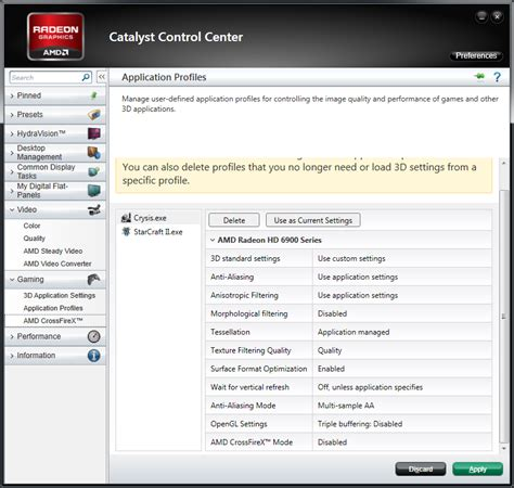 amd releases catalyst 12 1 preview custom application profiles hd3d crossfire more