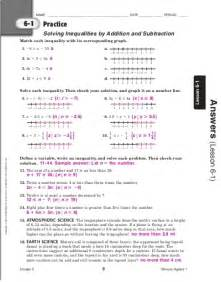 algebra i chapter 6 practice workbook answer key