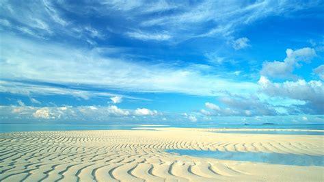 beautiful blue sky  beach hd wallpaper background