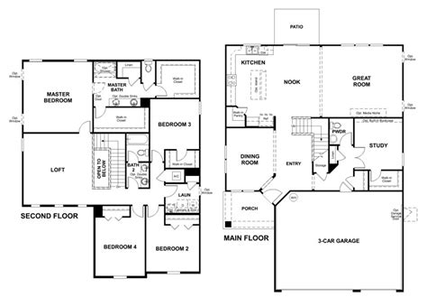 richmond american floor plans silverthorn model seth single family home home by richmond