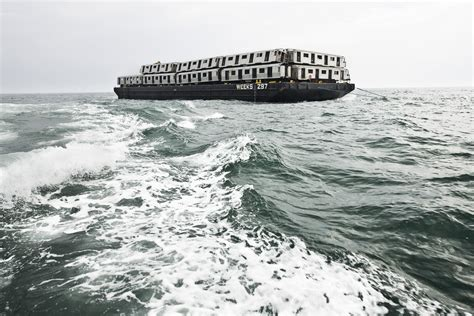 being as an ocean stunning photos showing nyc subway cars being dumped into