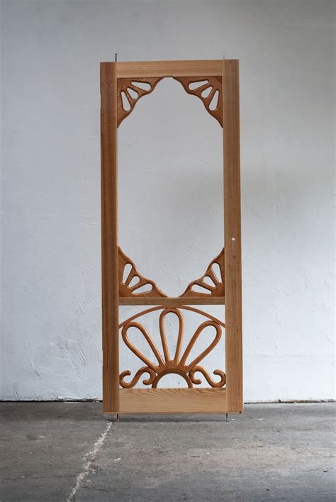 Handmade Wooden Doors - handmade custom wooden screen door by creative openings