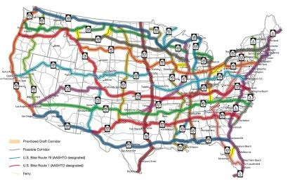 map us routes aashto approves framework for u s bike route system