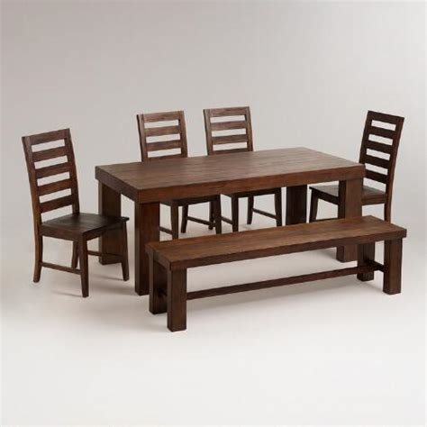 world dining room furniture francine dining table bench and chairs furniture set