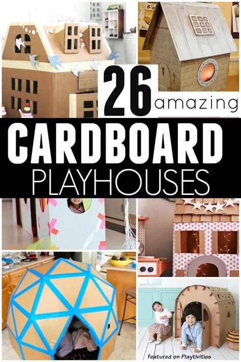 26 coolest cardboard houses playtivities