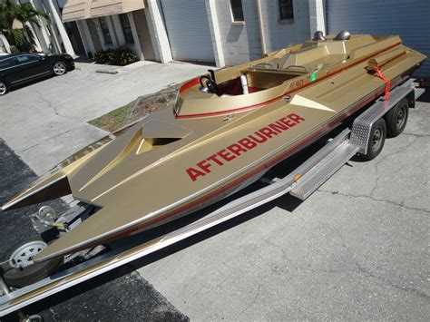 mini jet boat crash bangshift this picklefork boat is jet turbine powered