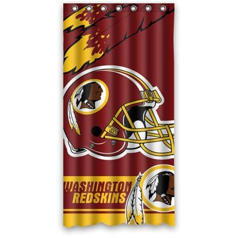 Redskins Bedroom Curtains Washington Redskins Shower Curtain Redskins Shower