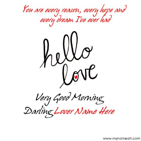 beautiful greeting card image with my lover name morning start message image wishes greeting card