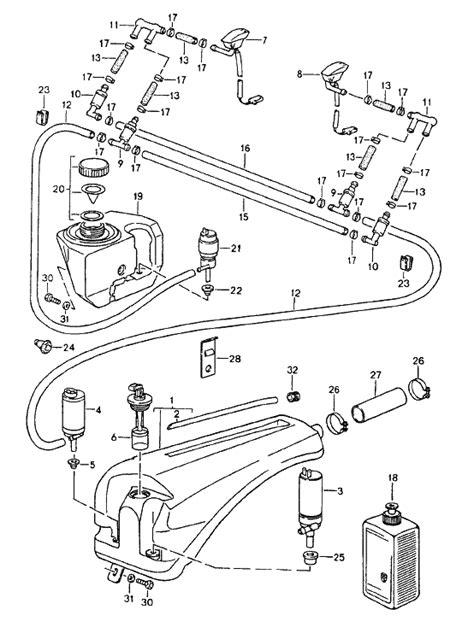 Windscreen Washer pump. Porsche 924S / 928 / 944 / 964