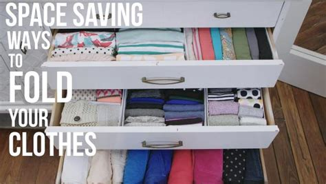 ways to save space in a small bedroom folding clothes to save space video hgtv
