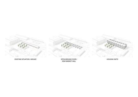Market Floor Plan jaja wins second prize for swedish housing and market hall