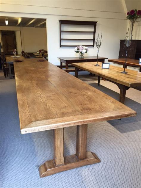 antique large dining table large elm refectory table large table antique large