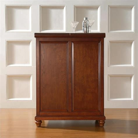 crosley furniture cambridge expandable home bar cabinet in