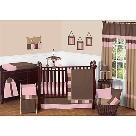 Soho Crib Bedding Set Sweet Jojo Designs Soho Crib Bedding Collection In Pink Brown Bed Bath Beyond