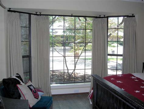 Curtains Rods For Bay Windows Ceiling Mount Curtain Rod Ideas Homesfeed