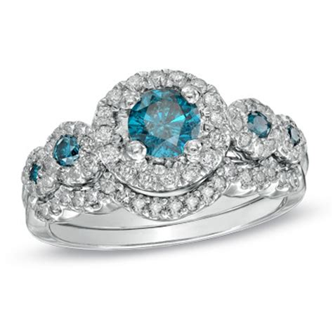zales blue diamond  ring weddingbee