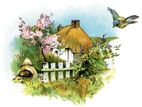 small country cottage clip art  design shop blog