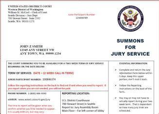 Does Jury Duty by Jury Service Western District Of Washington United
