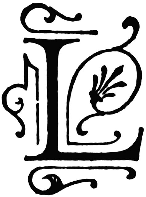 Initial L l ornate initial clipart etc