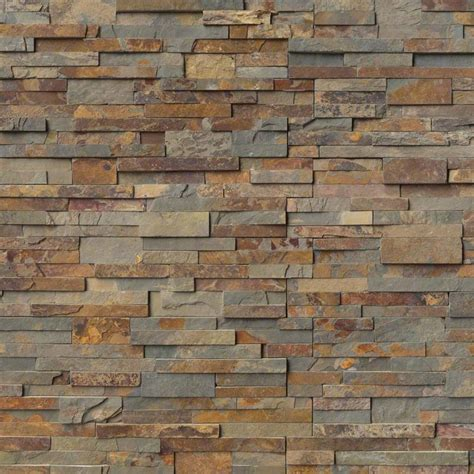 Faux Brick Kitchen Backsplash by Ledger Panels Gold Rush Hardscape