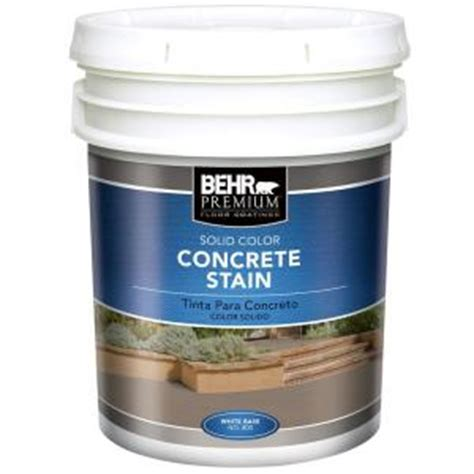 behr premium 5 gal white solid color concrete stain 80005