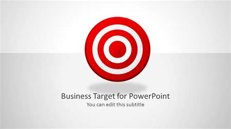 Business Target Shapes For Powerpoint Slidemodel Target Powerpoint Template