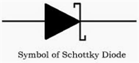 schottky diode symbol image basics and types of diodes techno genius