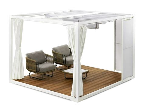 gazebi in alluminio gazebo in alluminio e legno pavilion by varaschin